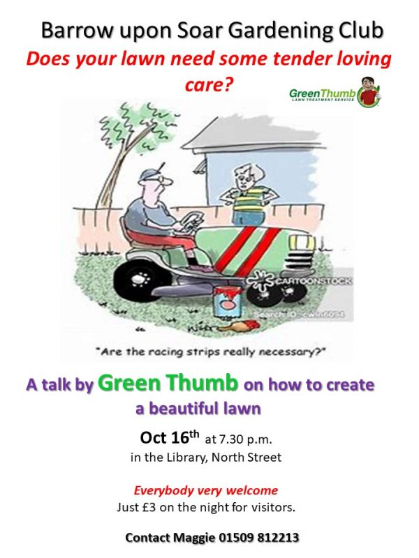 Barrow upon Soar Gardening Club  Oct 2019